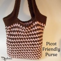 Picot Friendly Purse by Rhelena of CrochetN'Crafts