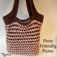 Picot Friendly Purse by Rhelena of CrochetN'Crafts