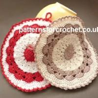 Round Pot Holder by Patterns For Crochet