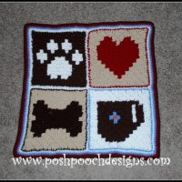 Pixel Graph Dog Blanket by Sara Sach of Posh Pooch Designs