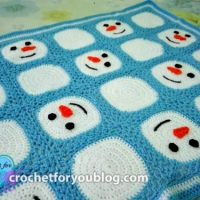 Crochet Snowman Granny Square and Blanket by Erangi Udeshika of Crochet For You