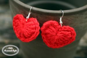 Small Heart Earrings by Nicole Riley of Nicki's Homemade Crafts