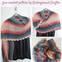 Silk Elegance Shawl by Marie Segares/Underground Crafter