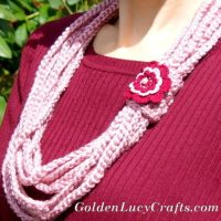 Chain Scarf, Necklace by GoldenLucyCrafts