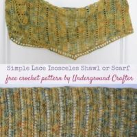 Simple Lace Isosceles Shawl or Scarf by Marie Segares/Underground Crafter