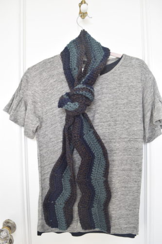 Meandering Walk in the Woods Ripple Scarf by Marie Segares/Underground Crafter