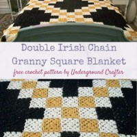 Double Irish Chain Granny Square Blanket by Marie Segares/Underground Crafter