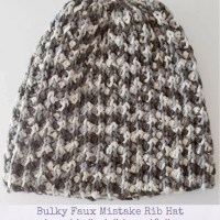 Bulky Faux Mistake Rib Hat by Marie Segares/Underground Crafter