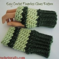 Easy Crochet Fingerless Gloves Pattern by CrochetNCrafts