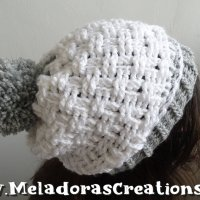Sideways Beanie - Basketweave Stitch by Candy Lifshes from Meladora's Creations