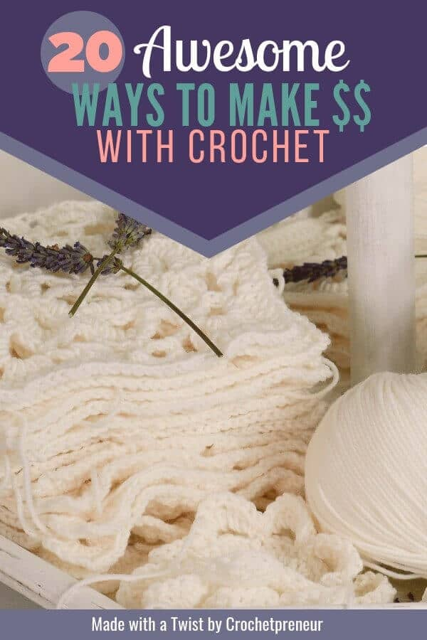 Are there really effective ways to make money with crochet? Yes! I was so excited to find this list and can't wait to start a successful business. Check it out! #startacrochetbusiness #crochetbusiness #makemoneywithcrochet #crochetformoney #sellcrochet #waystomakemoneywithcrochet #startacrochetbusiness