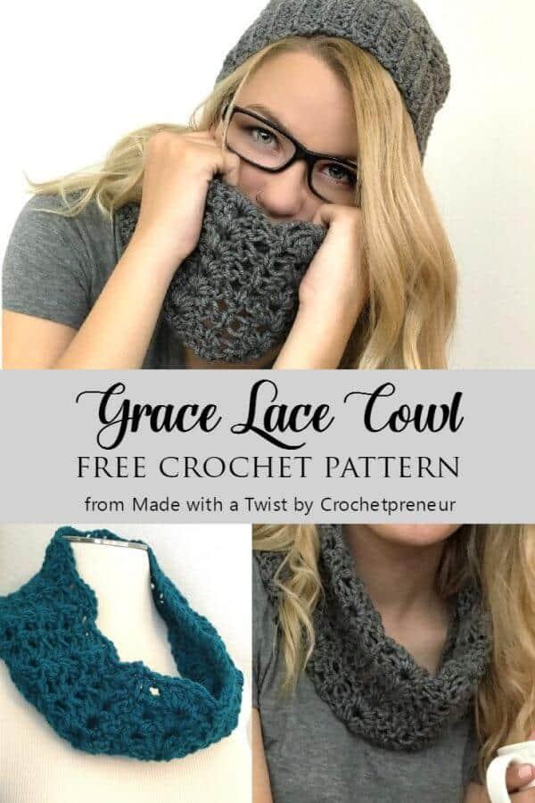 Free Lace Cowl Crochet Pattern