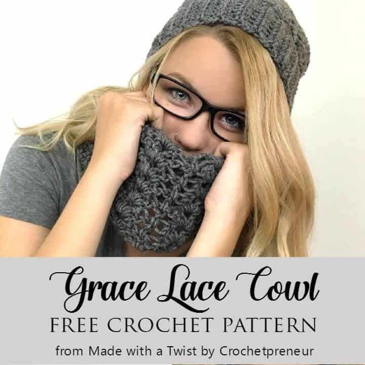 Lace Cowl Crochet Pattern