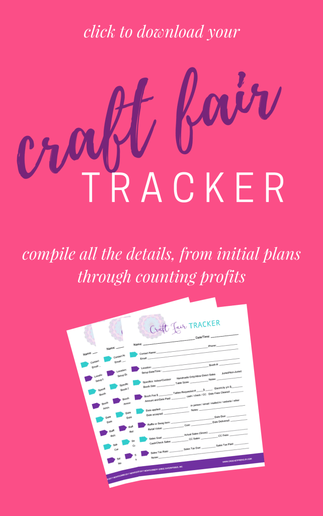 CRAFT FAIR TRACKER | Compile all the information you need from planning to execution - fair details, booth information, contacts, payment information and profits. Keep it all documented and safe in order to have a successful craft fair season!