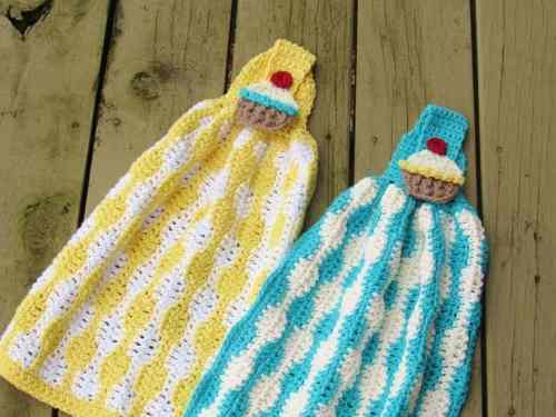 Crochet Pot Holders and Towels Pattern