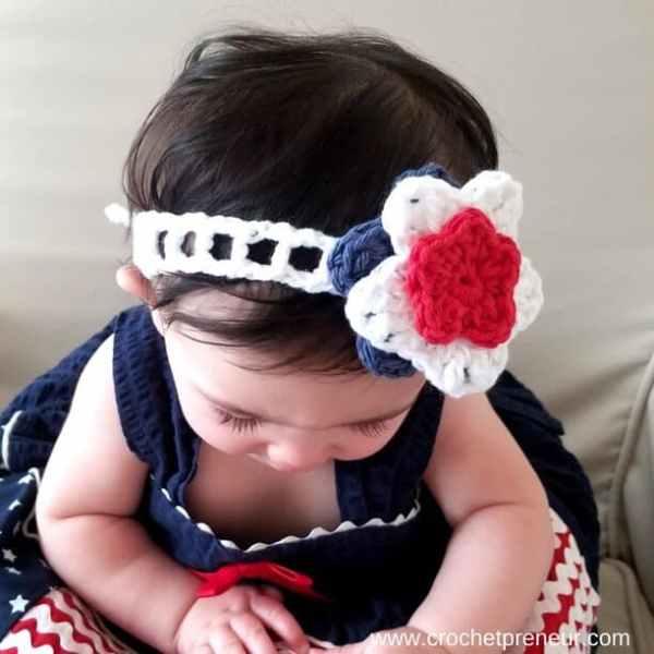 Free Summer Headband Crochet Pattern Stars And Stripes