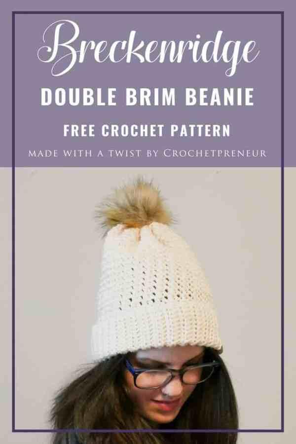 Bottom Up Double Brim Beanie Free Crochet Pattern Crochetpreneur