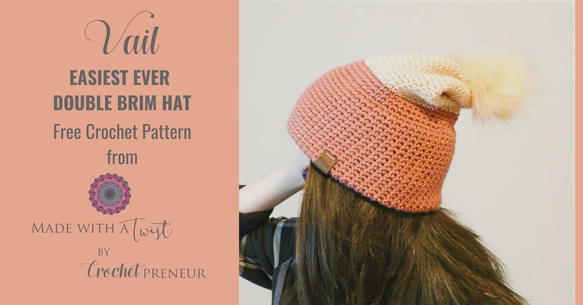 Easy Double Brim Slouch Hat Free Crochet Pattern Crochetpreneur