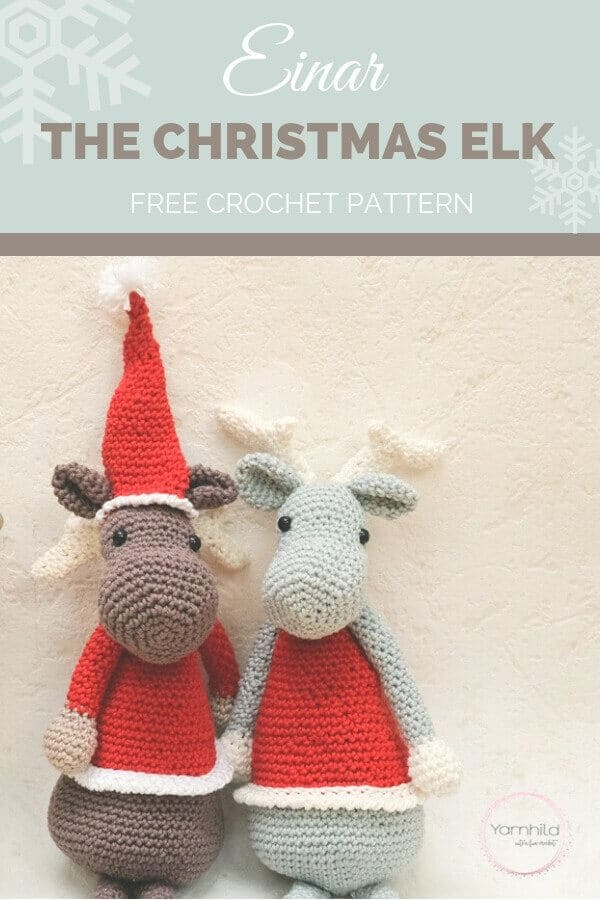 Amigurumi Christmas Elk Crochet Pattern: 30 Days of Cozy ...