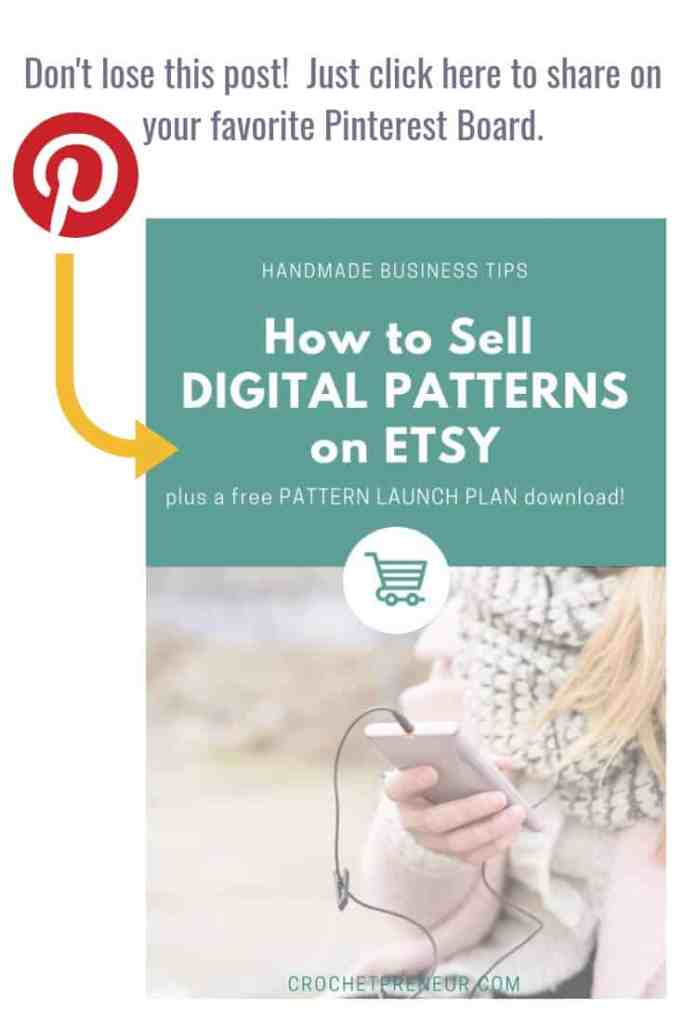 Ready to sell your designs on Etsy but don't know how? Here's a step-by-step guide on how to list patterns on Etsy for digital download. It's easier than you think! #sellonetsy #etsyseller #howtolistpatternsonetsy #listpatternsonetsy #sellprintableonetsy #digitalprintable #pdfonetsy #sellprintables #sellpatterns