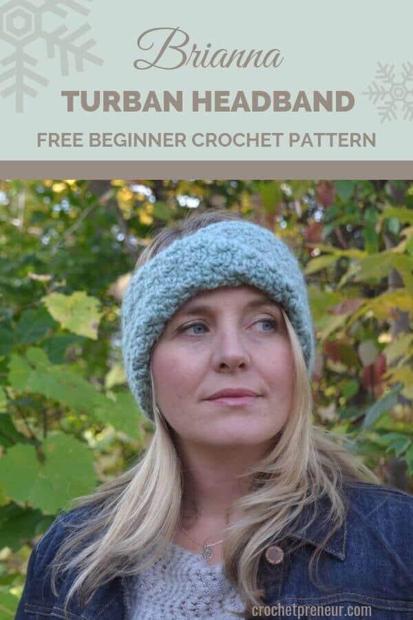 Brianna Turban Headband Crochet Pattern 30 Days Of Cozy