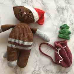 Amigurumi Christmas Cat Crochet Pattern