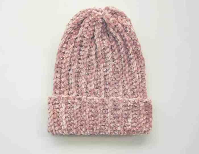 Velvet Beanie crochet Pattern