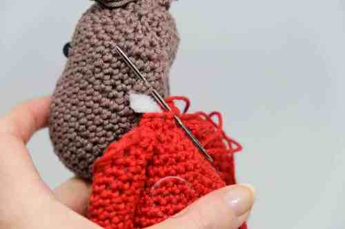christmas elk crochet pattern