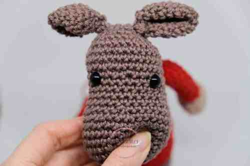 christmas elk crochet pattern