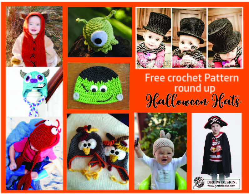 Free Crochet Pattern Round Up Halloween Hats On Crochettherapy