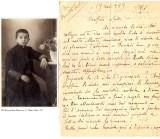 Lettera dell'Arciprete Don Matteo Brunetti al nipote dodicenne seminarista ad Anagni, Emilio Brunetti (nella foto). Alfedena, 13 nov. 1933