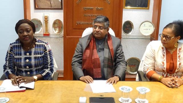 Numérisation des paiements au service de la protection sociale : La ministre Mariatou Koné échange avec le gouvernement indien