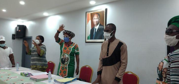 (Côte d'Ivoire Tonkpi) Les femmes Rhdp debout pour la victoire d'AGC en 2020
