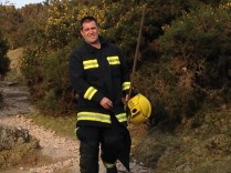 One of the fire fighters who kept things under control.