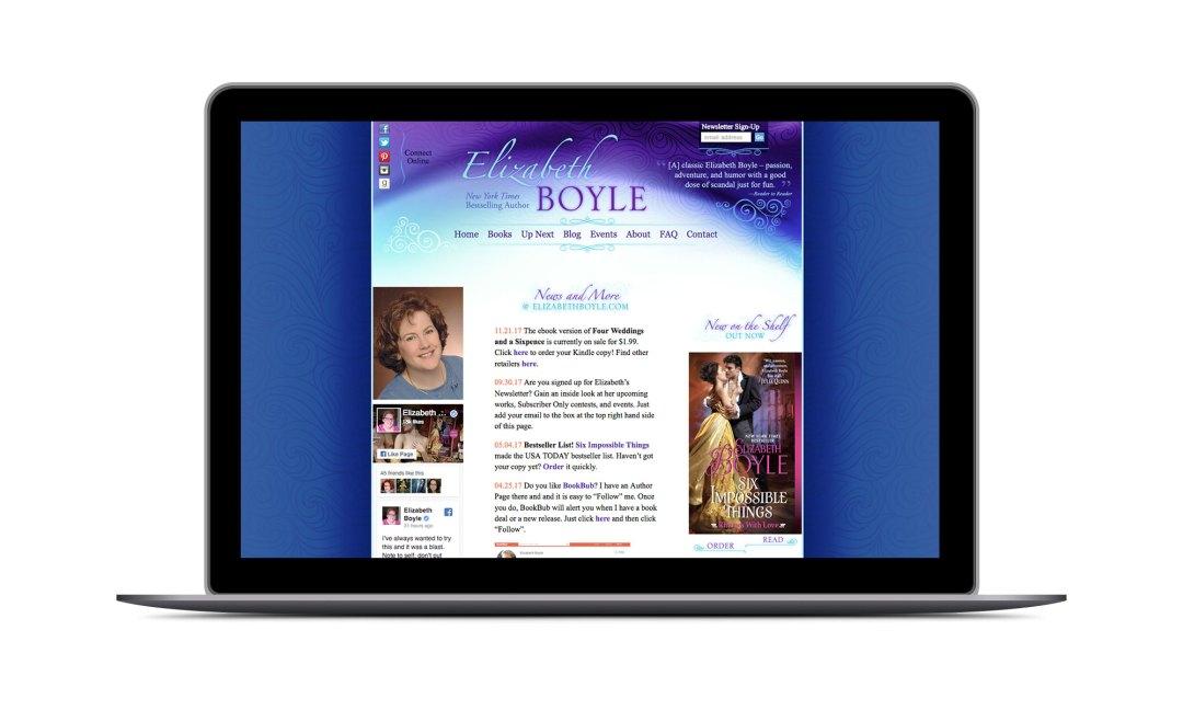 Screenshot: Elizabeth Boyle Website