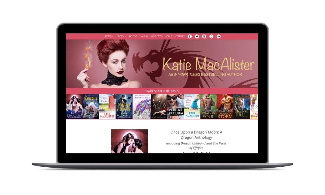 Screenshot: Katie MacAlister Website