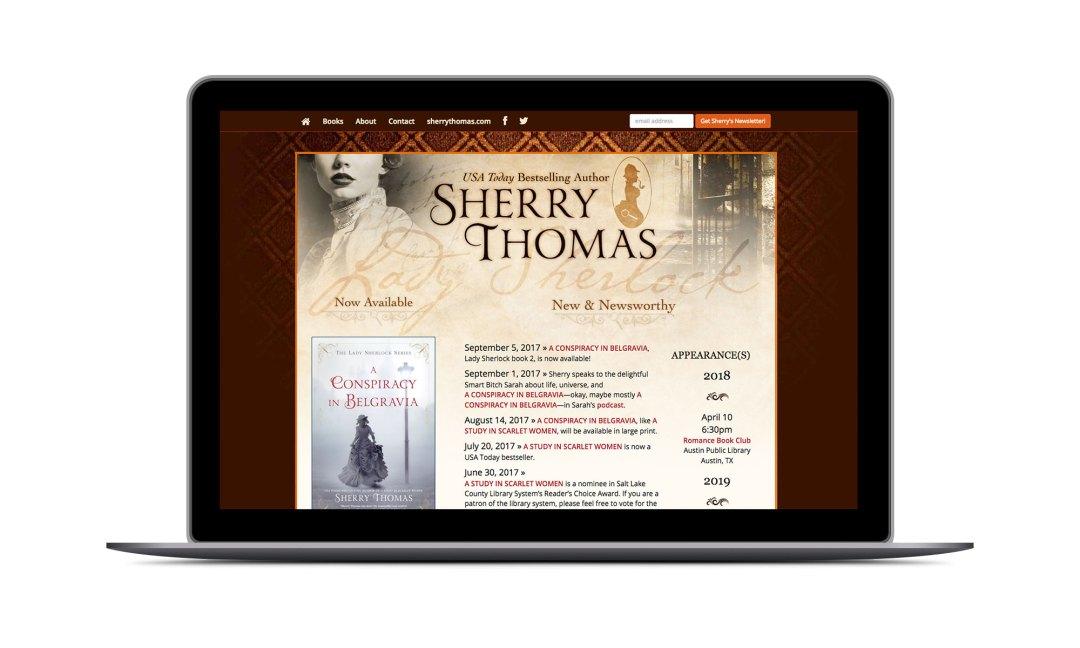 Screenshot: Lady Sherlock Books Website