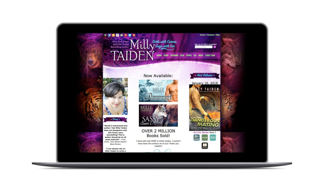 Screenshot: Milly Taiden Website