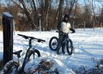 Clay Haglund, fat biker