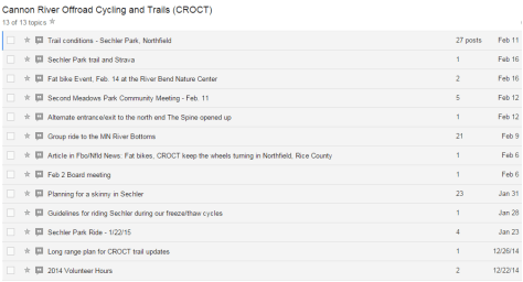 CROCT discussion topics feb 2015