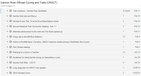 CROCT discussion topics feb 2015
