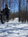 Bill N, winter fat biking, River Bend Nature Center. Photo by John R