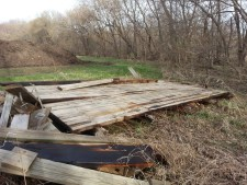 flood-damaged Mill Towns Trail bridge