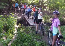 CROCT Monday night youth group ride, Sechler Park mtb trail