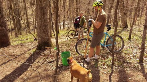 CROCT trail segment at Caron Park 2