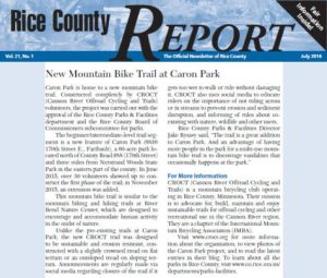 Rice County Newsletter with Caron Park CROCT article
