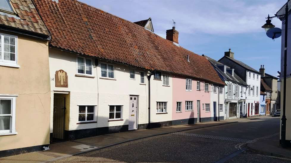The high street in Saxmundham
