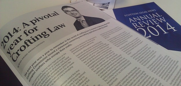 Scottish Legal News Crofting Review 2014