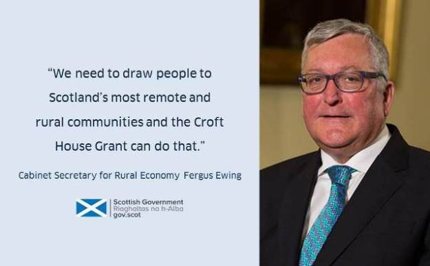 Fergus Ewing MSP announces £705,000 of Croft House Grants
