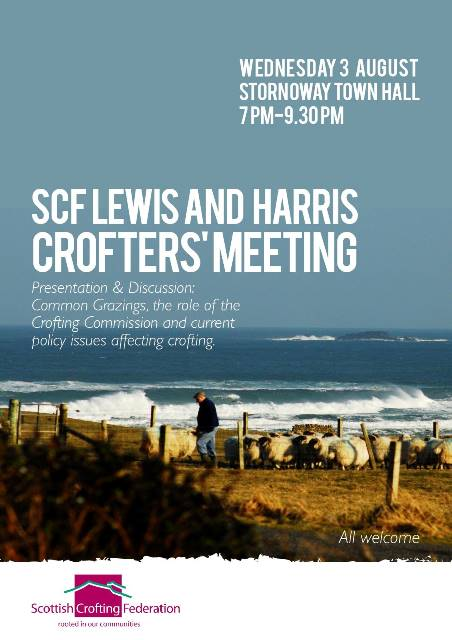 SCF Crofters Meeting Lewis and Harris - 3 August 2016
